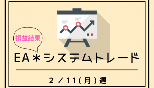 【2/12週】EA(システムトレード)の損益結果☆