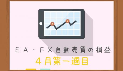 【4月第一週目】主婦・FX初心者にもできる♪EA&自動売買によるお小遣い稼ぎの結果は?