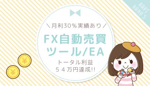 【月利30%の実績】トータル54万円を稼いだFX自動売買ツールEAのホームページが完成しました!