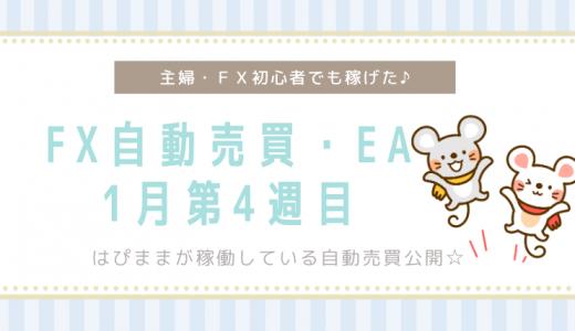 【EA・FX自動売買】1月第四週目の損益結果☆